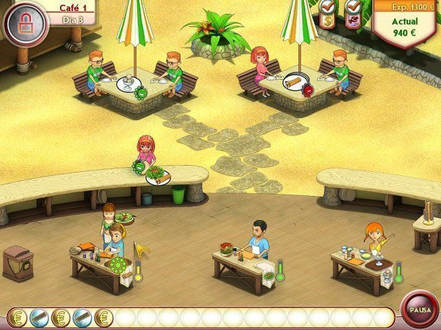 Amelie's Café: Summer Time en Español game