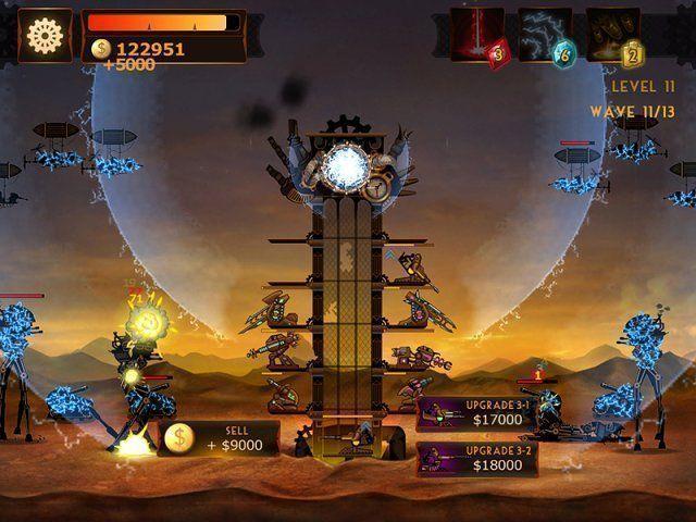 Steampunkowa Wieża: Gra Defense Gra Bezpłatne